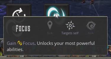 A slightly elaborated description: 'Gain focus. Unlocks your most powerful abilities'
